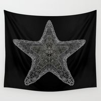starfish Wall Tapestries featuring Starfish; ornate starfish by Barruf