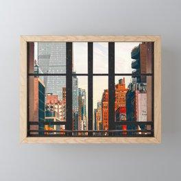 New York City Window #2-Surreal View Collage Framed Mini Art Print