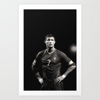 ronaldo Art Prints featuring Cristiano Ronaldo by Sport_Designs