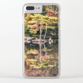 Japanese Garden, colorful in autumn in Kyoto. Clear iPhone Case