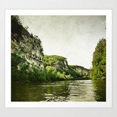 Along the River Art Print
