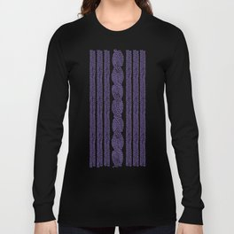 Cable Stripe Violet Long Sleeve T-shirt