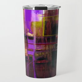 A Journey Into Abstract Thought No.1d by Kathy Morton Stanion Travel Mug