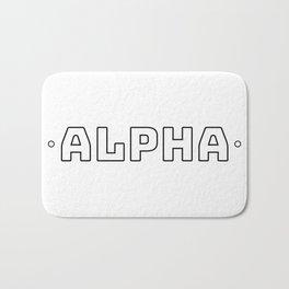 Alpha (Black on White) Bath Mat