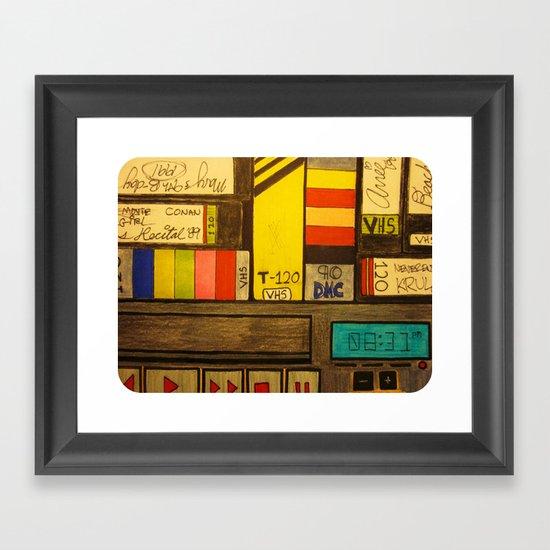 """""""VHS Memories"""" Framed Art Print"""