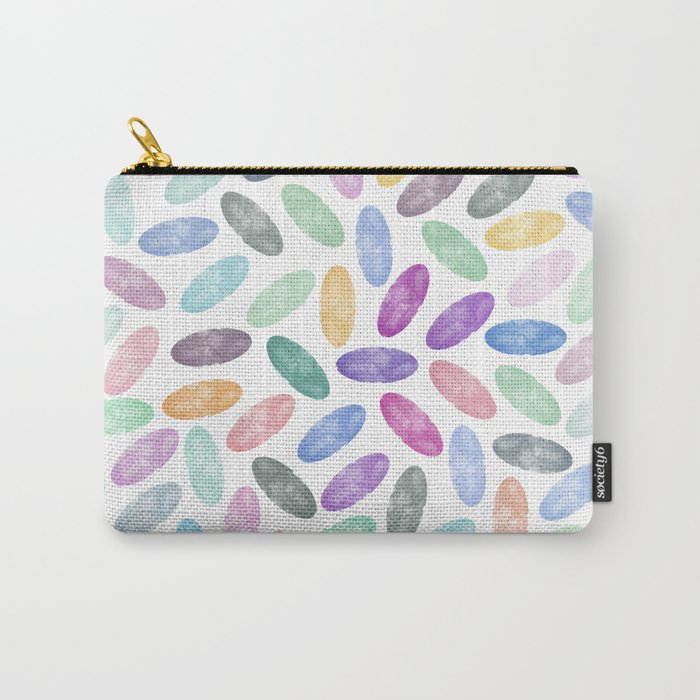 Watercolor Lovely Pattern VII Carry-All Pouch
