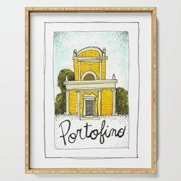 portofino postcard Serving Tray