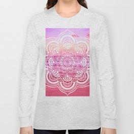Water Mandala Hot Pink Fuchsia Long Sleeve T-shirt