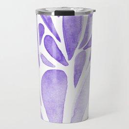 Watercolor artistic drops - lilac Travel Mug
