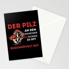 lustiger Nazispruch Fliegenpilz Stationery Cards