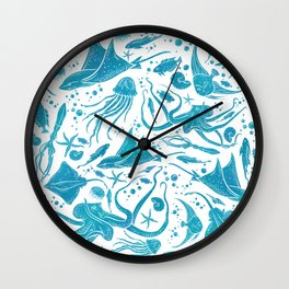Marine Life Diversity Wall Clock