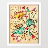 Love & Coffee Art Print