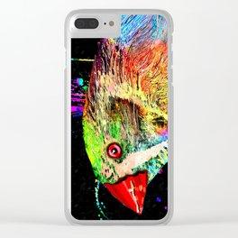 Zebra Finch Bird Clear iPhone Case