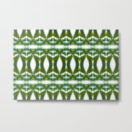 Palm Leaf Kaleidoscope (on white) #2 Metal Print