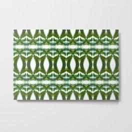 Palm Leaf Kaleidoscope (on white) #2 Metal Print