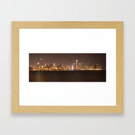 Night in Chicago Framed Art Print