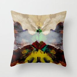 the peacock and the crane Throw Pillow