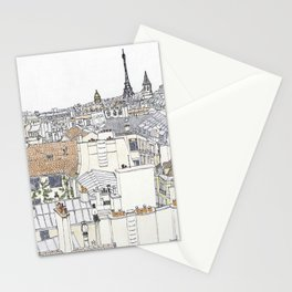 Pen + Ink Paris Rooftops Stationery Cards