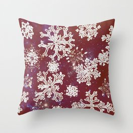 Christmas snowflakes RED-special edition 2018 Throw Pillow