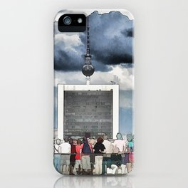 Tourists have a look at Berlin from the Reichstag iPhone Case