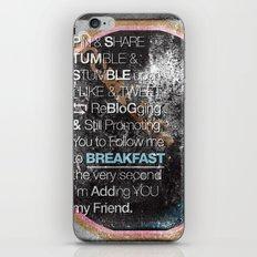 SocialBreakFast 2.0 iPhone & iPod Skin