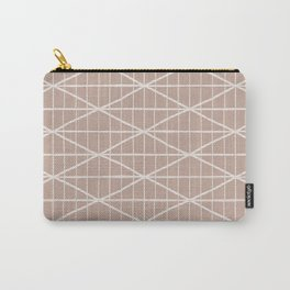 Light terracotta crossed lines pattern Carry-All Pouch