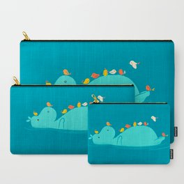 Floating Hippo Carry-All Pouch