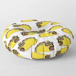 Pug Taco Floor Pillow