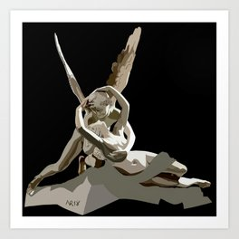 Psyche revived by Cupid´s kiss Art Print