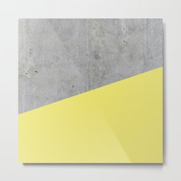Concrete and Yellow Color Metal Print