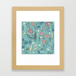 Flowers of Magical Forest Framed Art Print