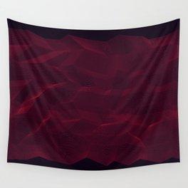 Facets - Dark Purple Wall Tapestry