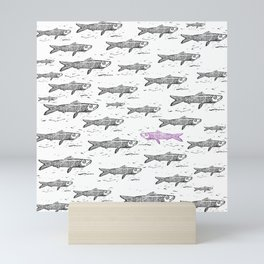 Purple Sardina Mini Art Print