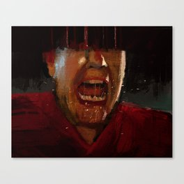 Man screaming texture illustration painting Canvas Print