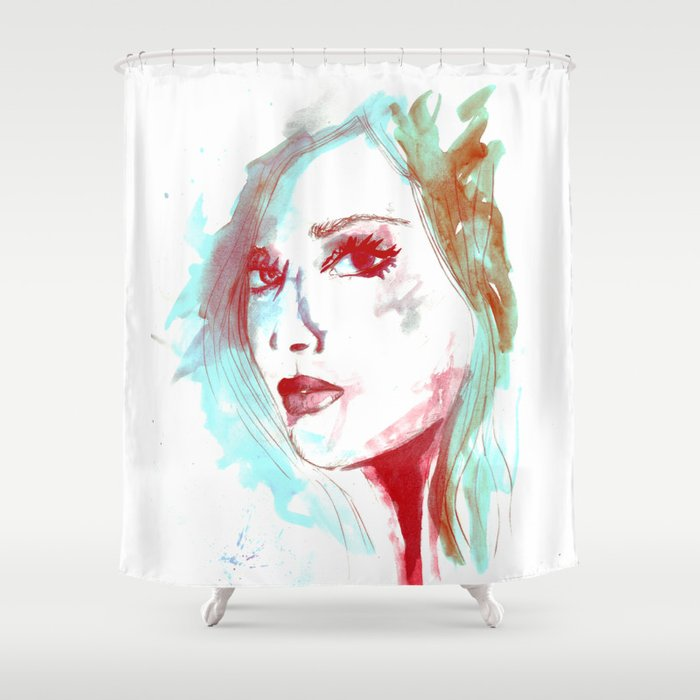 Lady Mint Shower Curtain