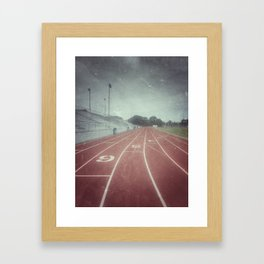My Running Days Framed Art Print