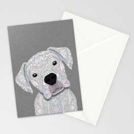 Cute White Boxer Stationery Cards