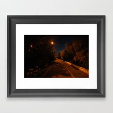 Night near the river Framed Art Print