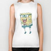 spongebob Biker Tanks featuring Spongebob Squarepants by gem ☮