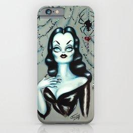 Vampira Black Widow Valentine iPhone Case