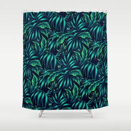 Jurassic Jungle - Green Shower Curtain