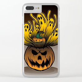 Classic character of ghost and pumpkin Clear iPhone Case