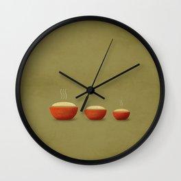 Goldilocks & the Three Bears Wall Clock