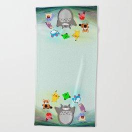 Video game Anime Character Rainbow Beach Towel