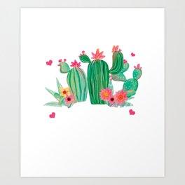 Cactus Puns Cacti Lover Don't Be A Prick Succulent Botanist Gift Art Print