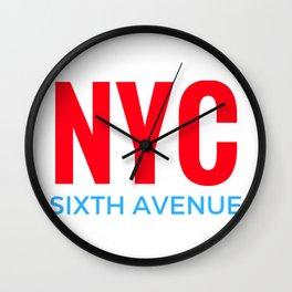 NYC Sixth Avenue Wall Clock