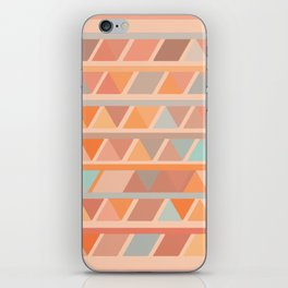 Muted Earth Tones Abstract Geometric Pattern iPhone Skin