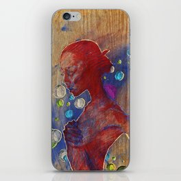 carved in wood iPhone Skin