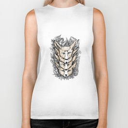 Stacked Foxes Biker Tank