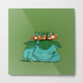 Maternal Instinct - Grass Metal Print